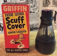 Vintage Griffin Patent Leather Scuff Cover Shoe Liquid - Original Box & Bottle