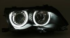 PHARES AVANT ANGEL EYES NOIR BMW SERIE 3 E46 2001-2005 BERLINE 316i 320i 328i