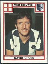 PANINI FOOTBALL 78 #341-WEST BROMWICH ALBION-DAVID CROSS