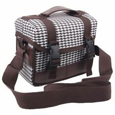Portable Travel DSLR Camera Bag Case For Canon Nikon Panasonic Houndstooth