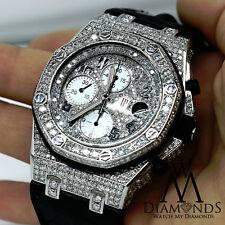 Audemars Piguet Royal Oak Offshore Chronograph Diamonds Watch on Leather Strap