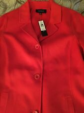 NWT Talbots Reg 10 Orange Double Face Wool Car Coat