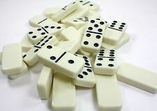 DOUBLE SIX (6) DOMINOES 28pc SET DOMINO W/ STORAGE CASE NEW PLASTIC NO SPINNER