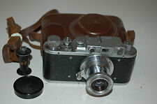 Zorki 1 Type C Vintage Soviet Rangefinder Camera With Case & Cap 1952. No.370955