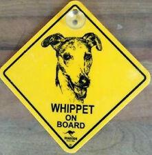 12cm Roadsign Schild mit Saugnapf WHIPPET Warnschild Hund