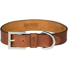 Brothers Leather Dog Collar - Large