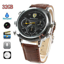 HD 32GB Waterproof Spy Camera Watch Hidden Camcorder 30FPS Recorder DVR Recorder