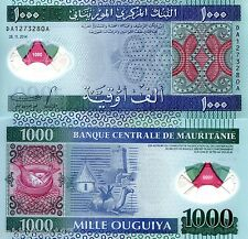 MAURITANIA 1000 Ouguiya Banknote World Polymer Money Currency 2014 BILL Note