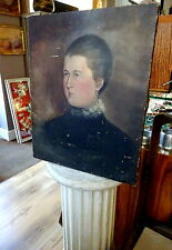 English 19th Century School Portrait of a Victorian Lady Oil on Canvas