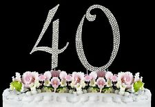 40th Birthday Cake Toppers Bling Birthday Cake Topper Real Sparkling Rhinestones