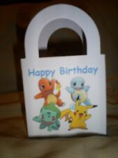 POKEMON GO  Birthday Party pack 12 Favor Boxes Bags Free Personalization