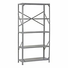 "72"" Heavy Duty Storage Shelf Steel Metal Garage Rack 5 Level Adjustable Shelves"