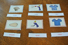 Montessori Homeschool ANTONYMS Match Card Language Arts Word Study Material