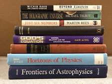 Lot of 8 Physics Books, Einstein, Astrophysics, Relativity, Holographic Universe