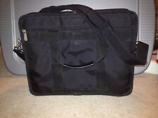 Targus Laptop Briefcase Computer Shoulder Carry Case Bag Black Nylon Padded