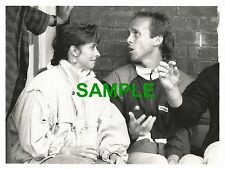 ORIGINAL PRESS PHOTO - TENNIS STAR JOHN LLOYD WITH DEBBIE TAYLOR BELLMAN 1987