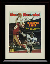 Framed Dwight Clark Sports Illustrated Autograph Print The Catch SF 49'ers