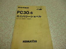 KOMATSU PC30-6 PARTS MANUAL