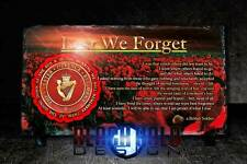 Ulster Defence Regiment (UDR) Poppy Rock Slate With Stands (British Army)