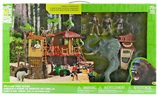Animal Planet Kid's Elephant Nature Safari Tree House Jungle Pretend Play Set