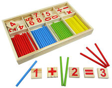 Wooden Montessori Mathematics Material Early Learning Educational for Kids ST9
