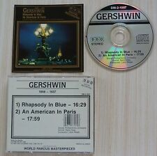 RARE CD ALBUM GERSHWIN 1898 1937 MADE IN CANADA DM 2 1007