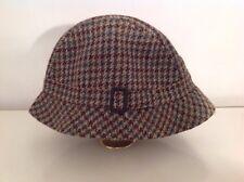 VINTAGE Barbour Trillby Cappello Deerstalker Stile Cappello di Tweed ~ Taglia M 48cm