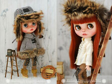 BHC FN676 Walnut Furry Cape Dress Set for Kenner Blythe doll outfit