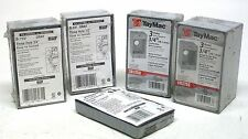 NEW LOT OF 4 VARIOUS ALL WEATHER OUTDOOR OUTLET BOXES WITH 1 OUTLET COVER CB