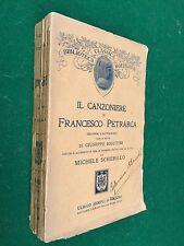 IL CANZONIERE DI FRANCESCO PETRARCA note di Rigutini , 2° Ed Hoepli (1908) Libro