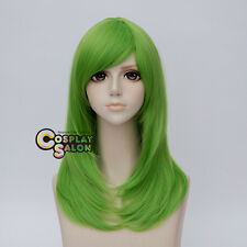 Anime 55CM Long Green Wavy Women Basic Style Hair Cosplay Wig Heat Resistant