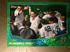 2013 Topps Series 1 Emerald Parallel Russell Martin Yankees 282