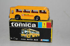 TOMICA POCKET CARS #1 FUSO HATO BUS, YELLOW, EXCELLENT, BOXED