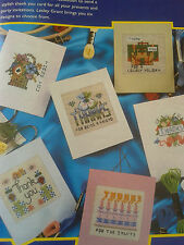 cross stitch charts quick and easy everyday cards x 6