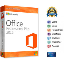 LICENZA/LICENSE MICROSOFT Office Professional Plus 2016 1 key =  5 computers