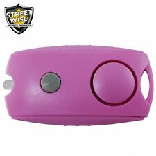 Streetwise Panic Alarm Button PINK Keychain Flashlight Security Free Shipping