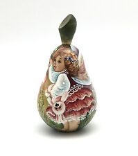 "Unique Shape Pear ""Fairy"" Russian Hand Painted Doll no Nesting"