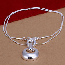 New Wholesale 925 Sterling Silver Filled Solid Fashion Hoof Necklace Chain