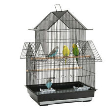 Beautiful Double Hut Big Bird Cage for Your Lovely birds and parrots-47X36X70CM