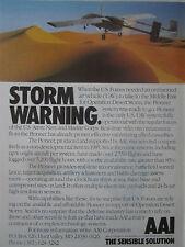 2/1991 PUB AAI US FORCES UAV PIONEER DRONE DESERT STORM ORIGINAL AD