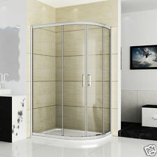 1200x900 Quadrant Shower Enclosure Glass Shower Cubicle Stone Tray Right Entry