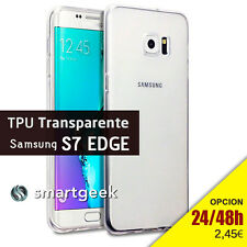 FUNDA TPU gel TRANSPARENTE para SAMSUNG galaxy S7 edge relieve camara CLEAR CASE