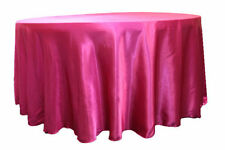 "132"" Inch round Satin Tablecloth 21 COLORS Table Cover Wedding Banquet Catering"