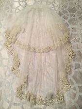 Priscilla Of Boston Wedding Veil Swarovski Crystals Ivory