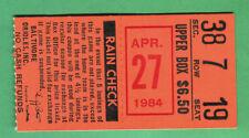 GEM MINT! CAL RIPKEN CONSECUTIVE STREAK GAME #300 TICKET STUB-4/27/84 @ ORIOLES