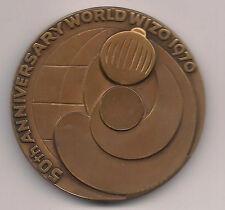 """ISRAEL,50th ANNIV. WORLD """"WIZO"""" 1970, MEDAL"""