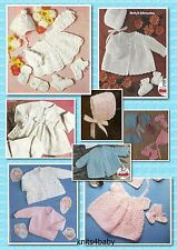 150+ Vintage PATTERNS ~ Large Selection of BABY KNITTING & CROCHET GARMENTS.