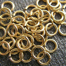10 14K Solid Yellow Gold Jump Rings 3mm Jumpring Wire 26 gauge Top Quality 14KT