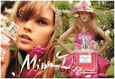 "Publicité Advertising 2010 (2 pages) eau de Toilette ""Miss Dior Cherie"""