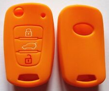 ORANGE CAR FLIP KEY COVER FOR KIA RIO SORENTO SPORTAGE PICANTO SOUL AMANTI